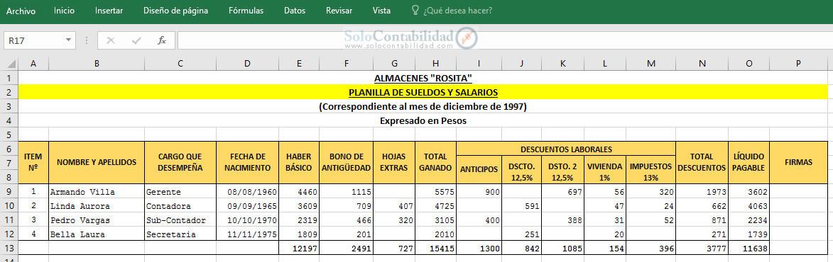 Aguinaldo. Planilla de Sueldos y Salarios | Planilla de sueldos y ...